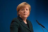 09 DEC 2014, KOELN/GERMANY:<br /> Angela Merkel, CDU, Bundeskanzlerin, haelt ihre Rede als Parteivorsitzende der CDU, CDU Bundesparteitag, Messe Koeln<br /> IMAGE: 20141209-01-022<br /> KEYWORDS: Party Congress