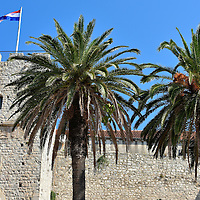 Side View of Revelin Tower in Korčula, Croatia <br />