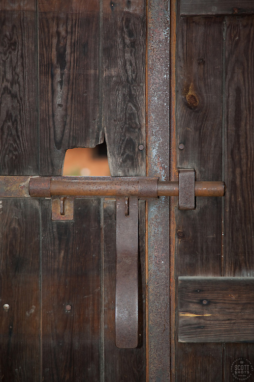 """Locked Door"" - This old locked wooden door was photographed in the small mountain town of San Sebastian, Mexico."