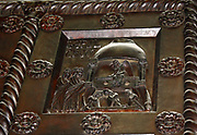 Detail from Bronze doors with scenes from the Old and New Testament in relief. Made at the order of St. Bernward, and set up by him in 1015 at St. Michael's Church, Hildesheim. They were since taken to the cathedral by his successor.