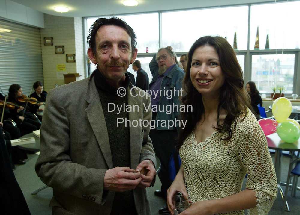 3/4/2003.Waterford reading marks Irish launch of transatlantic poetry anthology..The Irish launch of a unique anthology of poetry from Ireland and the Canadian province of Newfoundland & Labrador was held recently  (Thursday, April 3) at Waterford Institute of Technology..Pictured at the launch was Aidan Dunne (brother of the late SEan Dunne) and poet Kyran Pittman..Picture Dylan Vaughan