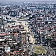 Torino, Spina Centrale, cantiere del Passante Ferroviario (interramento della ferrovia dalla stazione di Stura al Lingotto) giugno 2013