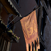 Italy, Veneto, Venice. November/12/2007...Looking up - texture and facades in the city of Venice, Italy.