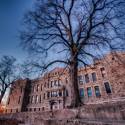The vacated Norman School between Southwest Trafficway and Jefferson in KCMO, January 28, 2011.