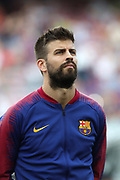 Gerard Pique of FC Barcelona during the UEFA Champions League, Group B football match between FC Barcelona and PSV Eindhoven on September 18, 2018 at Camp Nou stadium in Barcelona, Spain - Photo Manuel Blondeau / AOP Press / ProSportsImages / DPPI
