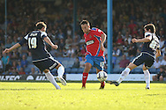 Picture by David Horn/Focus Images Ltd +44 7545 970036.08/09/2012.Luke Howell (c) of Dagenham and Redbridge during the npower League 2 match at Roots Hall, Southend.