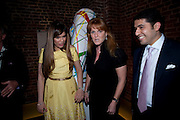 PRIA VANDREVELA; SARAH DUCHESS OF YORK;  CYRUS VANDREVALA;  The launch party for Elephant Parade hosted at the house of  Jan Mol. Covent Garden. London. 23 June 2009.