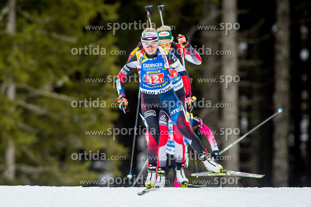 Eva Puskarcikova (CZE) during Single Mixed Relay at day 1 of IBU Biathlon World Cup 2018/19 Pokljuka, on December 2, 2018 in Rudno polje, Pokljuka, Pokljuka, Slovenia. Photo by Ziga Zupan / Sportida