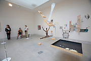 """Giardini, Palazzo delle Esposizioni. International exhibition """"Fare Mondi // Making Worlds // Bantin Duniyan // ???? // Weltenmachen // Construire des Mondes // Fazer Mundos..."""" curated by Daniel Birnbaum..O?yvind Fahlstro?m, """"Dr. Schweitzer's Last Mission"""", 1964-1966"""