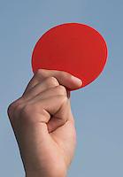 AMSTELVEEN - ILLUSTRATIE . Rode kaart, rood. Gebaren Scheidsrechter bij het Hockey. COPYRIGHT KOEN SUYK