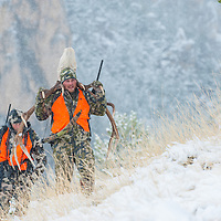 hunting the west for mule deer and elk, big mountains, rivers and valleys