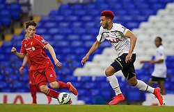 LONDON, ENGLAND - Friday, April 17, 2015: Tottenham Hotspur's captain Etienne Capoue in action against Liverpool during the Under 21 FA Premier League match at White Hart Lane. (Pic by David Rawcliffe/Propaganda)