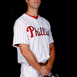 February 22, 2011; Clearwater, FL, USA; Philadelphia Phillies starting pitcher Cole Hamels (35) poses during photo day at Bright House Networks Field. Mandatory Credit: Derick E. Hingle