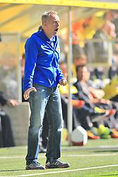 28.09.2013, Signal Iduna Park, Dortmund, GER, 1. FBL, Borussia Dortmund vs SC Freiburg, 7. Runde, im Bild Trainer Christian Streich (SC Freiburg) wuetend, sauer, Emotion // during the German Bundesliga 7th round match between Borussia Dortmund and SC Freiburg at the Signal Iduna Park, Dortmund, Germany on 2013/09/28. EXPA Pictures © 2013, PhotoCredit: EXPA/ Eibner/ Joerg Schueler<br /> <br /> ***** ATTENTION - OUT OF GER *****