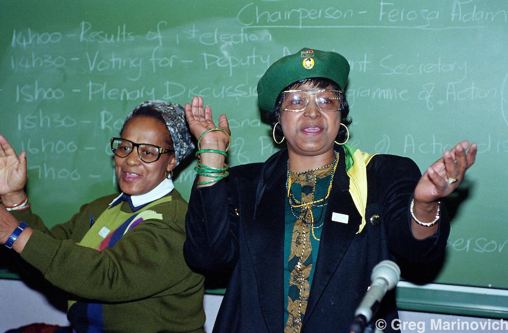 Winnie Mandela at PWV Women's League AGM, 5 May 1992