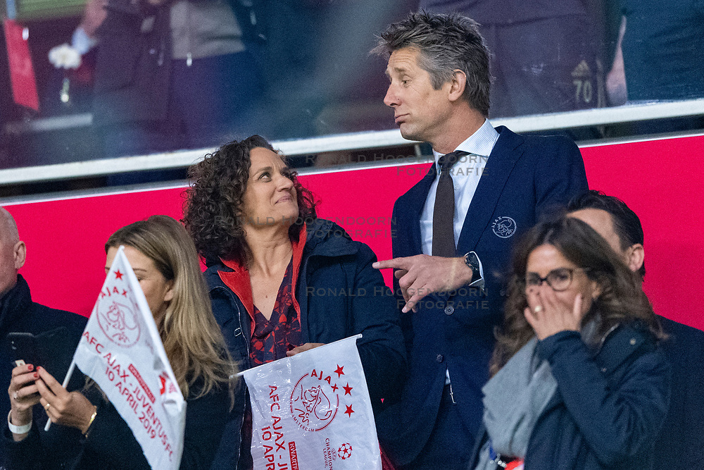 10-04-2019 NED: Champions League AFC Ajax - Juventus,  Amsterdam<br /> Round of 8, 1st leg / Ajax plays the first match 1-1 against Juventus during the UEFA Champions League first leg quarter-final football match / Edwin van der Sar