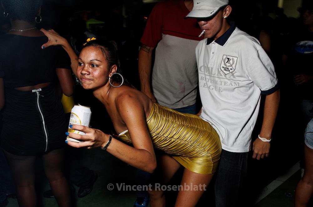 A moment of seduction.  Baile Funk of the Boqueirão club, Rio de Janeiro 2011.