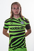 Forest Green Rovers Joseph Mills(23) during the official team photocall for Forest Green Rovers at the New Lawn, Forest Green, United Kingdom on 29 July 2019.