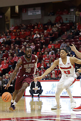 08 February 2018:  Sean Lloyd Jr. slips past William Tinsley during a College mens basketball game between the Southern Illinois Salukis and Illinois State Redbirds in Redbird Arena, Normal IL