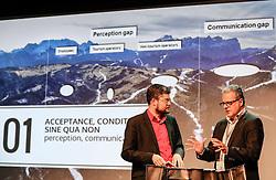 19.10.2016, ORF Landesstudio Tirol, Innsbruck, AUT, theALPS Media Summit, Präsentation einer Studie zur Zukunft des Winterurlaubs in den Alpen, im Bild v.l. Patrick Rina, ORF Südtirol und Harald Pechlaner, EURAC Research Bozen // during theALPS Media Summit at the ORF Landesstudio Tirol in Innsbruck, Austria on 2016/10/19. EXPA Pictures © 2016, PhotoCredit: EXPA / Martin Huber