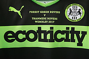 Embroidered shirts ready for the National League play off final during the Forest Green Rovers Press Conference and Training session at the New Lawn, Forest Green, United Kingdom on 12 May 2017. Photo by Shane Healey.