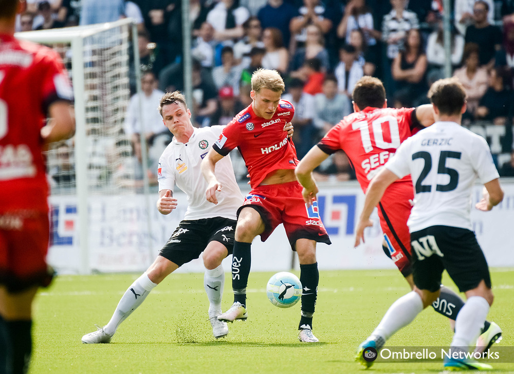 ÖREBRO, SWEDEN - MAY 22: Erik Moberg of Örebro SK during the allsvenskan match between Örebro SK and IFK Norrköping at Behrn Arena on May 22, 2016 in Örebro, Sweden. Foto: Pavel Koubek/Ombrello