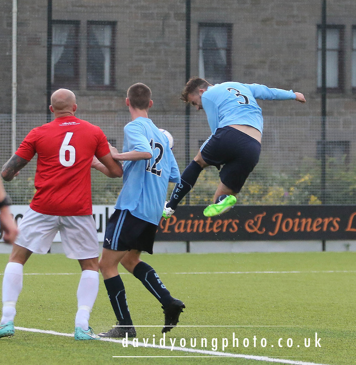 Ben Priest headed Dundee's first goal - Tayport v Dundee XI - pre-season friendly at the GA Arena <br /> <br />  - &copy; David Young - www.davidyoungphoto.co.uk - email: davidyoungphoto@gmail.com