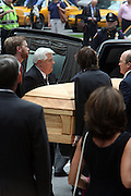The Casket of Walter Cronkite at the Walter Cronkite funeral at The St. Bartholomew Church on July 23, 2009 in New York City