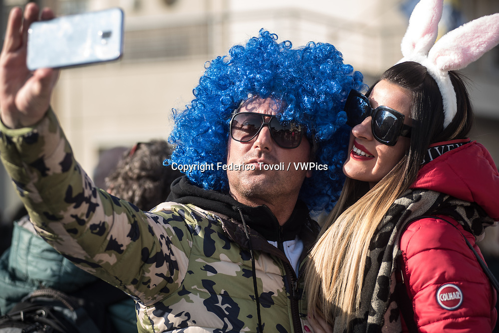 People enjoy the Carnival