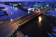 BELIZE / Belize City / Night view of Swing Bridge and Haulover Creek...© JOAN COSTA