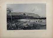 Approach to Caiph [Haifa] bay of Acre from Volume 2 of Syria, the Holy Land, Asia Minor, &c. by Carne, John, 1789-1844; Illustrated by Bartlett, W. H. (William Henry), 1809-1854, and Allom, Thomas, 1804-1872 Published in London in 1837