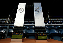 The BAFA Britbowl National League Trophies - Mandatory by-line: Robbie Stephenson/JMP - 26/08/2017 - AMERICAN FOOTBALL - Sixways Stadium - Worcester, England - East Kilbride Pirates v London Blitz - BAFA Britbowl National League Finals 2017