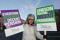 Melissa Sylvester, Kirklees Unison members on the TUC Day of Action 30th November, Huddersfield..© Martin Jenkinson, tel 0114 258 6808 mobile 07831 189363 email martin@pressphotos.co.uk. Copyright Designs & Patents Act 1988, moral rights asserted credit required. No part of this photo to be stored, reproduced, manipulated or transmitted to third parties by any means without prior written permission