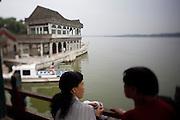 Imperial Summer Palace (Yihe Yuan). Kunming lake. Qingyan Boat (Marble boat).