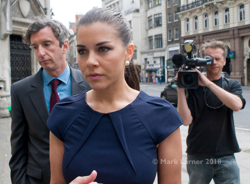 Picture by Mark Larner/Central News. Picture shows Imogen Thomas outside the High Court 16/05/2011..Imogen Thomas, the former Big Brother contestant whose relationship with a married Premier League footballer was made the subject of a court gagging order, has failed in a joint bid with the Sun to overturn the injunction..23/05/2011 - footballer revealed in parliament by John Hemming MP as Manchester United player Ryan Giggs