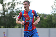 Connor Dymond in action during the U21 Professional Development League match between Crystal Palace U21s and Huddersfield U21s at Imperial Fields, Tooting, United Kingdom on 7 September 2015. Photo by Michael Hulf.