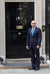 © Licensed to London News Pictures. 09/04/2014. London, UK. Sajid Javid arrives at Downing Street, London on 9th April 2014. Photo credit : Vickie Flores/LNP