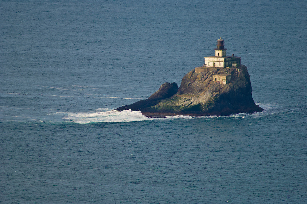 "Tillamook Rock Lighthouse, also known as ""Terrible Tilly"", first lit in 1881; Ecola State Park, northern Oregon coast."