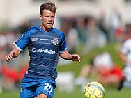 FODBOLD: Lucas Ohlander (FC Helsingør) under kampen i Reserveligaen mellem FC København og FC Helsingør den 28. august 2017 på KB's Anlæg. Foto: Claus Birch