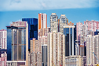 Central skyline Causeway Bay in Hong Kong