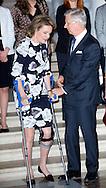 Falun, 01-03-2015<br /> <br /> <br /> King Phillipe and Queen Mathilde recieved active women on the occasion of International Women's Day.<br /> <br /> Photo: Bernard Ruebsamen/Royalportraits Europe