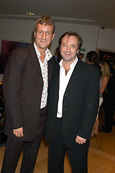 Actors NEIL PEARSON and STEPHEN TOMPKINSON at an after show party following the opening of the Old Vic's production of Richard 11 held at the City Inn, 30 John Islip Street, London W1 on 5th October 2005.<br />