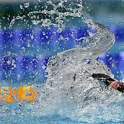Missy Franklin, USA, in action in the Women's 4 x 200m Freestyle Relay Final won by the USA at the Aquatic Centre at Olympic Park, Stratford during the London 2012 Olympic games. London, UK. 1st August 2012. Photo Tim Clayton