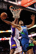 Mar. 16 2010; Phoenix, AZ, USA; Minnesota Timberwolves guard Ramon Sessions (7) puts up a shot in the first half at the US Airways Center. Mandatory Credit: Jennifer Stewart-US PRESSWIRE.