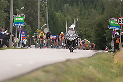 Chloe Hosking (AUS) of Ale-Cipollini Cycling Team wins (Vos second, Kroger third) the first intermediate sprint of Stage 1 of the Ladies Tour of Norway - a 101.5 km road race, between Halden and Mysen on August 18, 2017, in Ostfold, Norway. (Photo by Balint Hamvas/Velofocus.com)