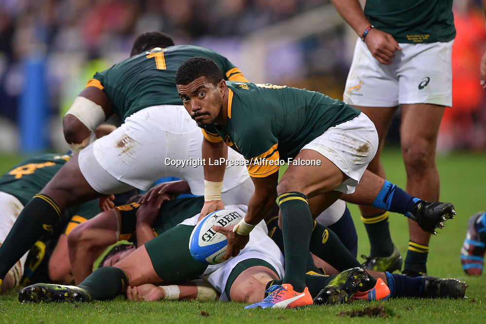 International Rugby, Italy v South Africa.<br /> Photo Alfredo Falcone - LaPresse<br /> 19/11/2016 Florence (Italy)<br /> Sport Rugby<br /> Italia - Sudafrica<br /> Rugby Test Match - Artemio Franchi Stadium of Florence<br /> In the pic:rudi paige