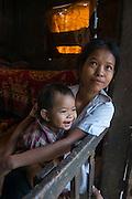 Khasi woman & baby<br /> Nongriat, Khasi Hills<br /> Meghalaya, ne India<br /> Range: South China, NE India, Burma