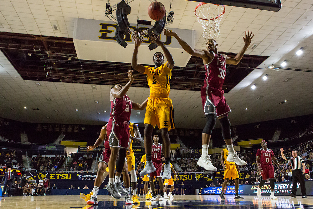 November 22, 2017 - Johnson City, Tennessee - Freedom Hall: ETSU forward David Burrell (2)<br /> <br /> Image Credit: Dakota Hamilton/ETSU