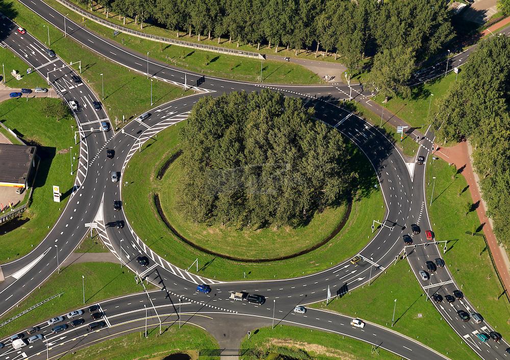 Verkeersplein Kooimeer met de wegen A9, N9  en N242