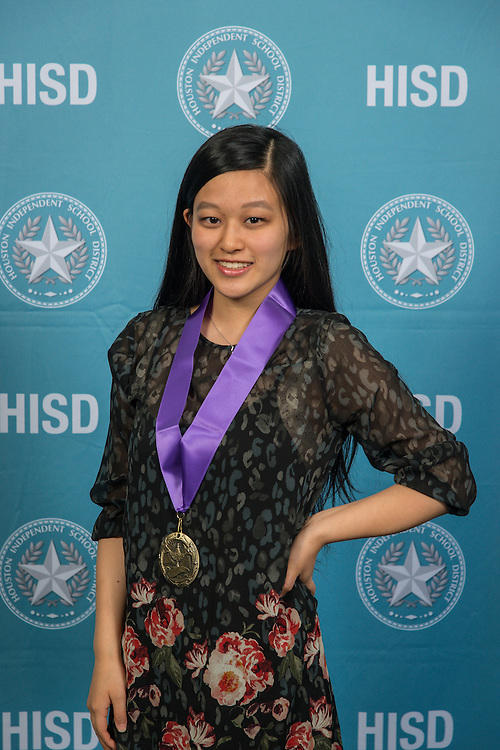 Liana Wang poses for a photograph during the Scholars banquet, April 12, 2016.